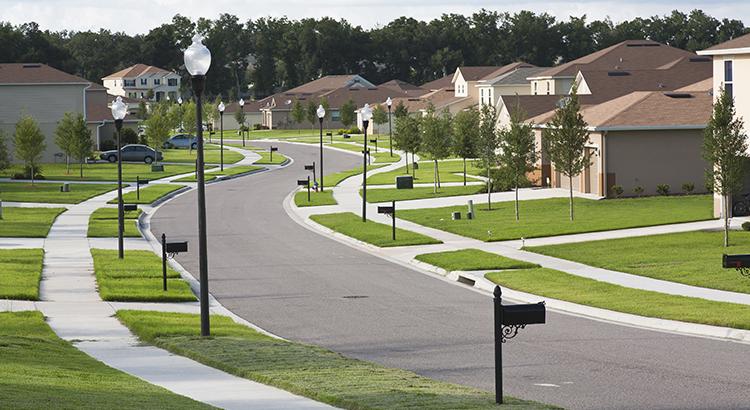 Houses on suburban block, Apopka, Florida