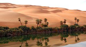 Mafo Lake in the Libyan Desert